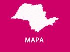 Caixa com link de acesso ao mapa com localização de polos do Projeto Guri