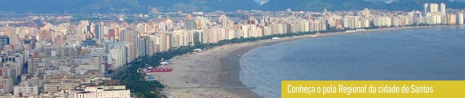 Foto panorâmica da cidade de Santos