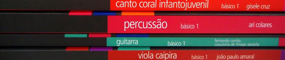 Imagem dos livros didáticos do Projeto Guri