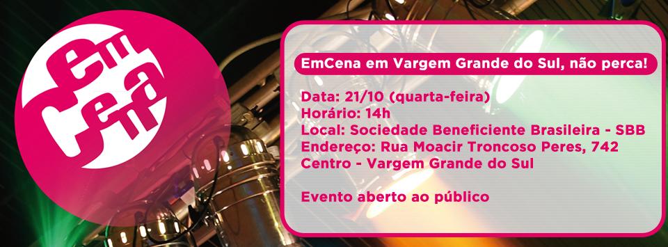 Serviço EmCena Encontro de Polos da Regional São Carlos Data: 21/10 (quarta-feira) Horário: 14h