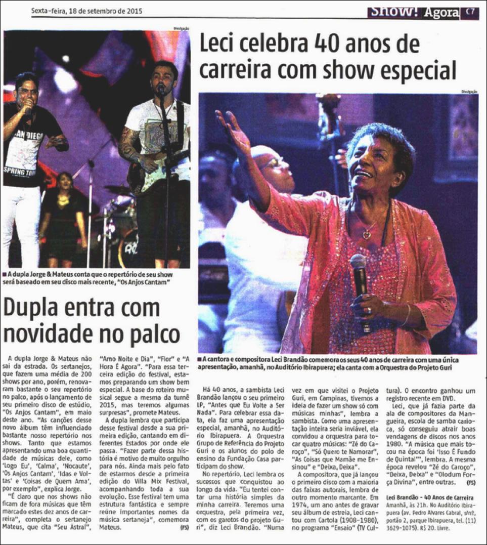 Leci celebra 40 anos de carreira com show especial