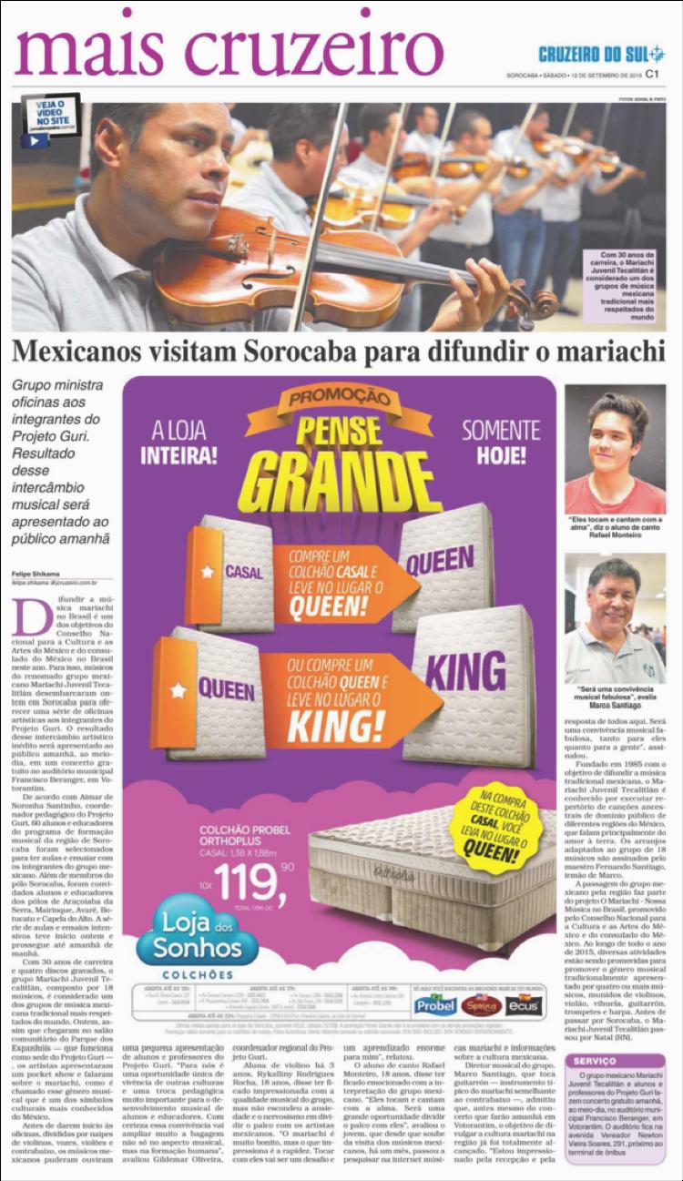 Mexicanos visitam Sorocaba para difundir o mariachi