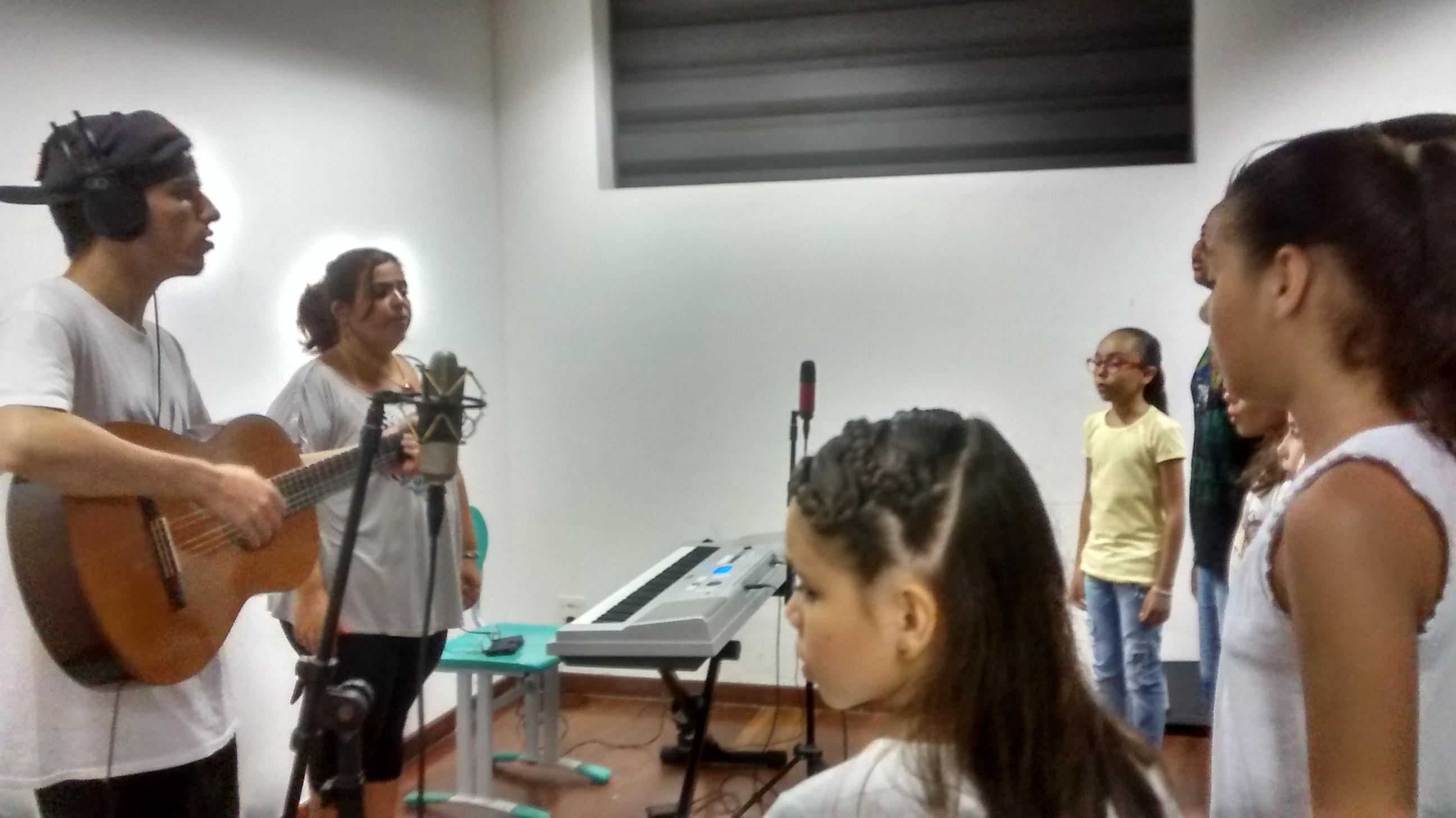 Gravação no Polo Santos com a banda Cabana Jack
