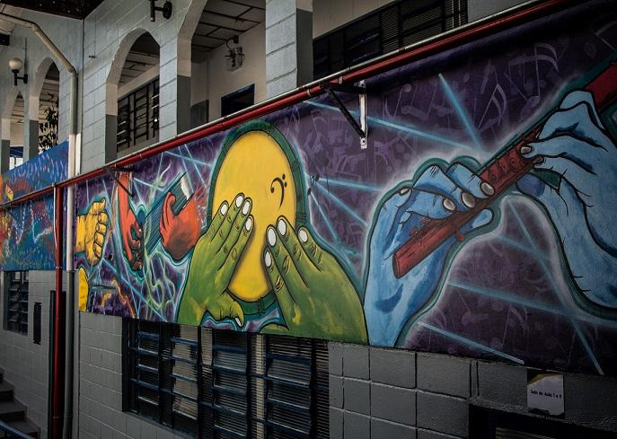 Imagem do Projeto Guri no Polo Votorantim (dentro da Escola de Música da Cidade