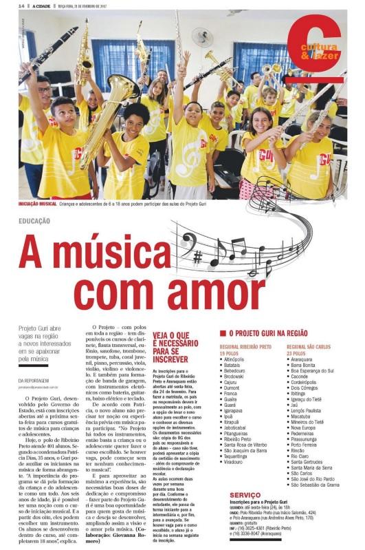a música com amor