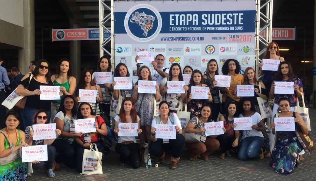 Representantes do Guri participam da campanha contra o trabalho infantil