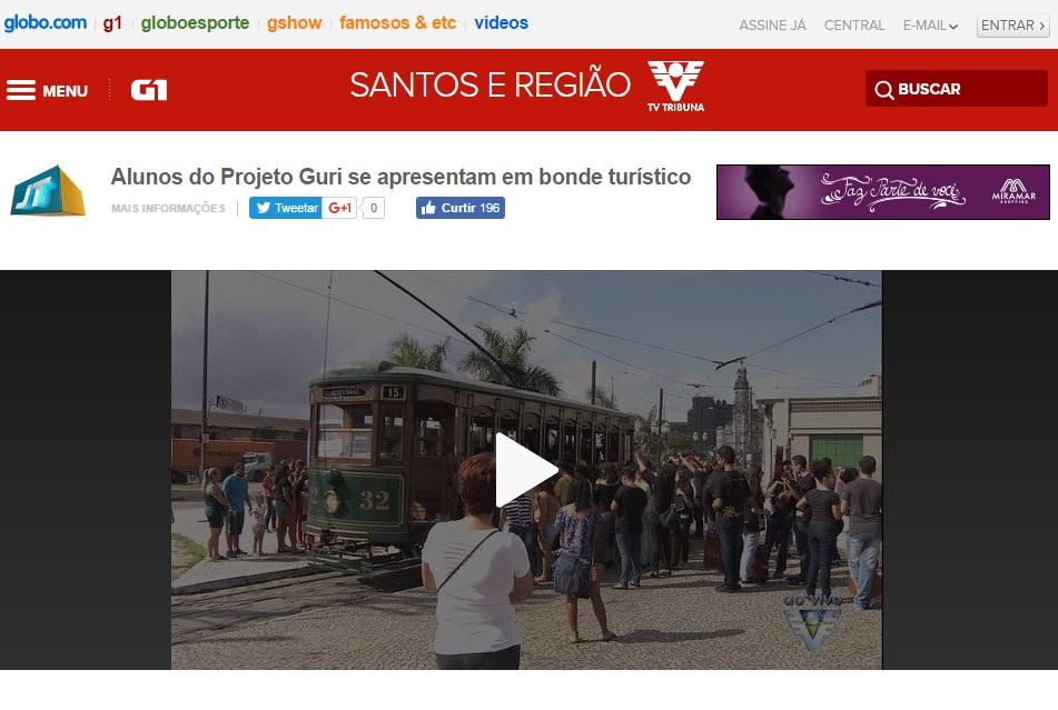 Dia da música - bonde - Santos