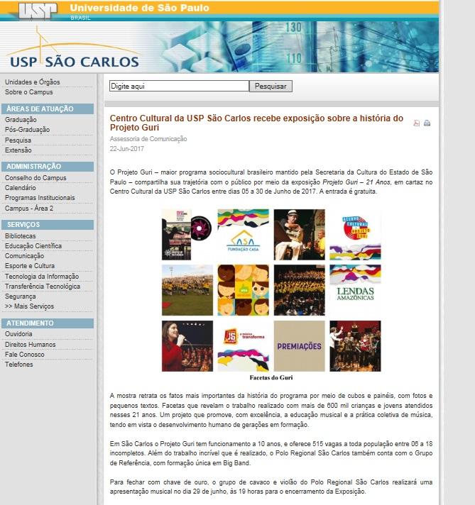 Exposição - USP São Carlos