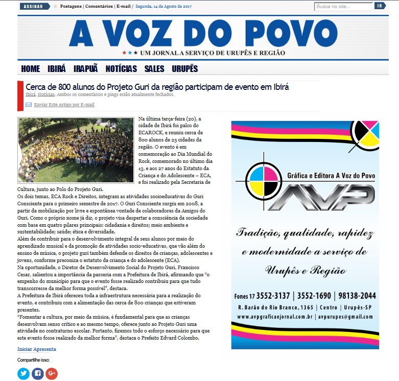 a voz do povo - Ibirá
