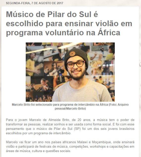 clipping - Pilar do Sul