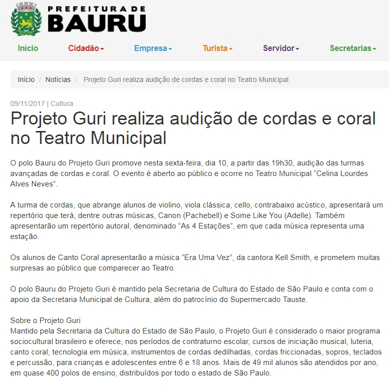 Audição - prefeitura de Bauru