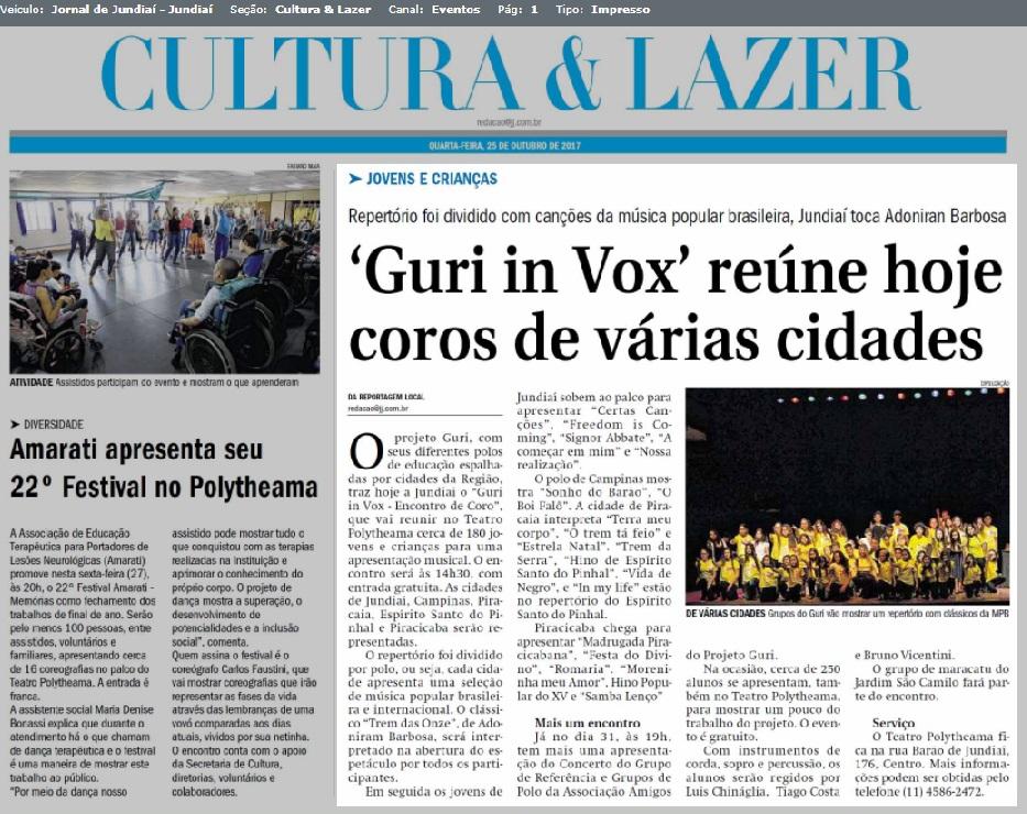 Guri in Vox - Jundiaí