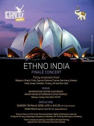 Ethno Índia - concerto final - cartaz