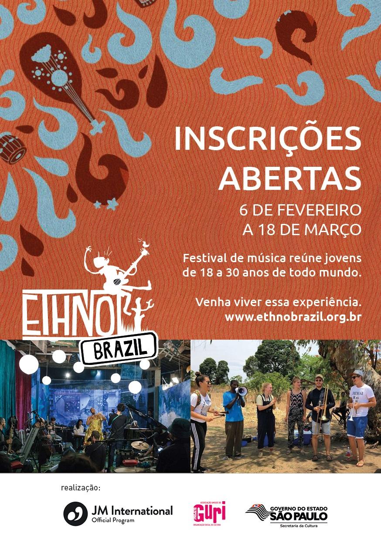 Ethno Brazil - cartaz - inscrições prorrogadas