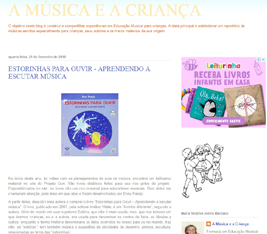 a música e a infância