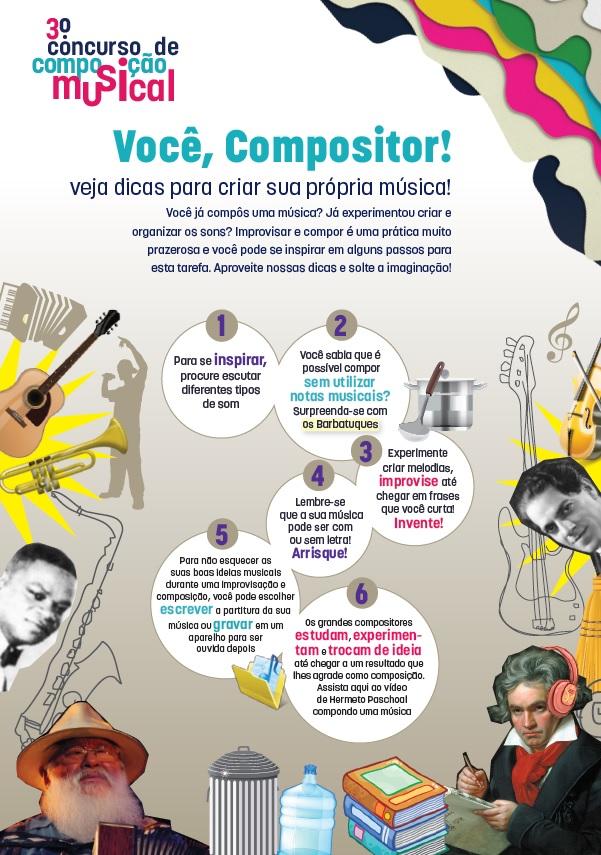 Dicas para o 3º concurso de composição musical