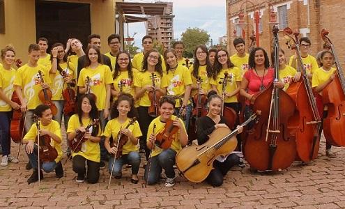 Alunos do Projeto Guri. Foto: Daniella Souza