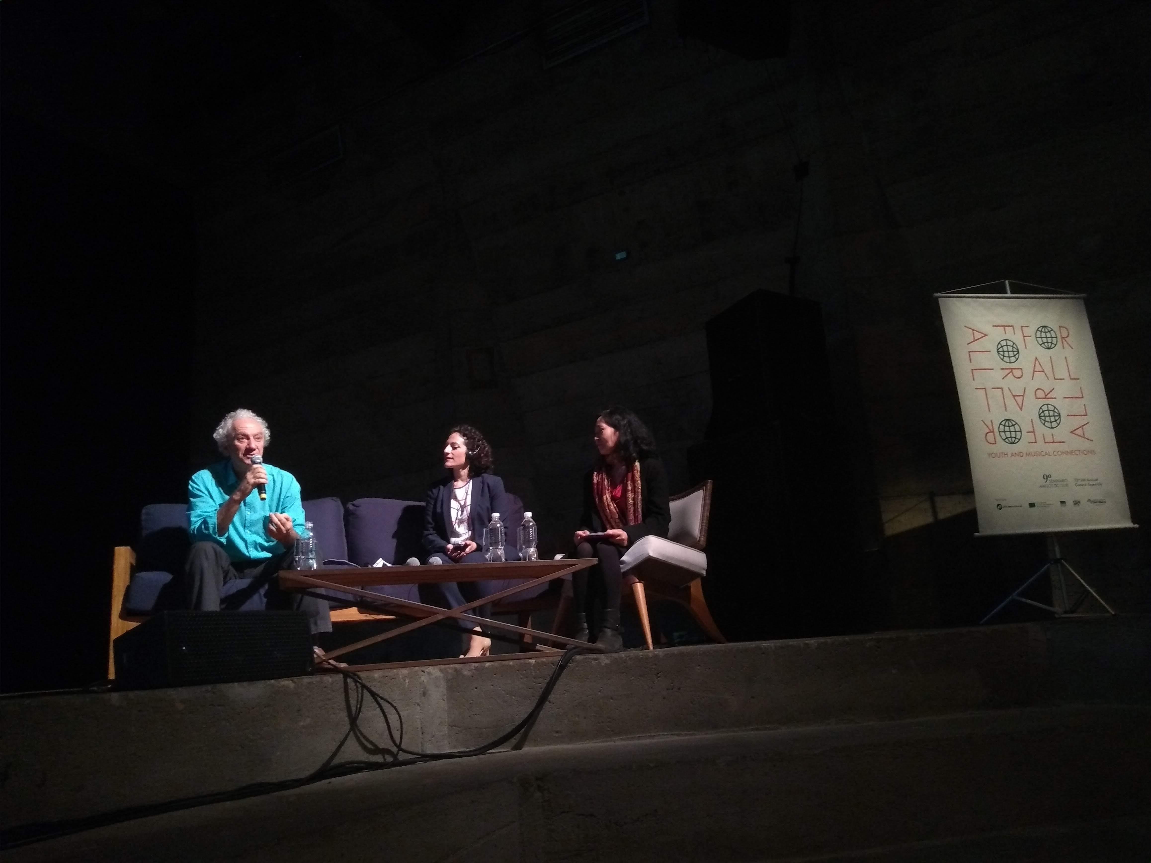 Mesa 4 - Música e Autonomia para crianças e jovens: Carlos Kater, Maria Varvarigou e Flávia Narita