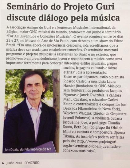 Revista Concerto - seminário