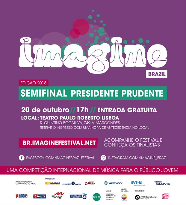 Imagine - cartaz - Presidente Prudente