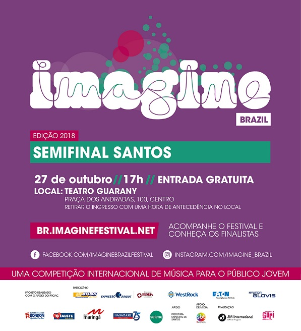 Imagine - cartaz - Santos