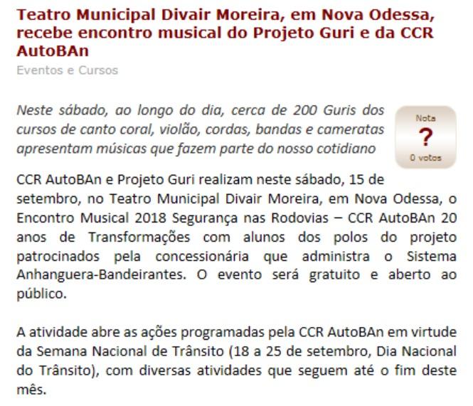 Teatro Municiapal Devair Moreira