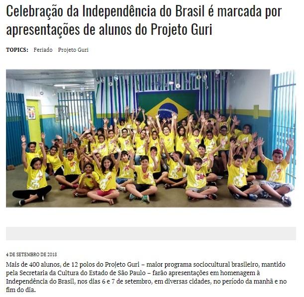 celebração da independência