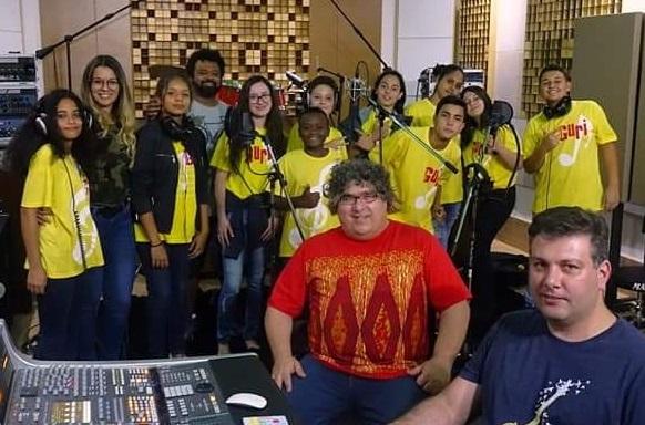 Vencedores do Concurso de Composição 2018, Guris de Lençóis Paulista gravaram música em estúdio profissional