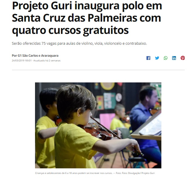 G1 - Santa Cruz das Palmeiras