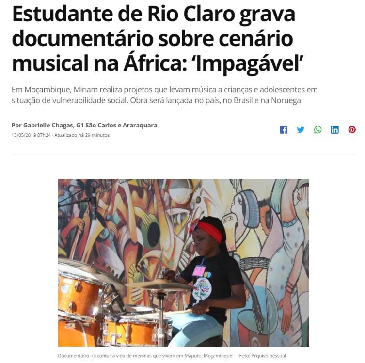 Estudante de Rio Claro