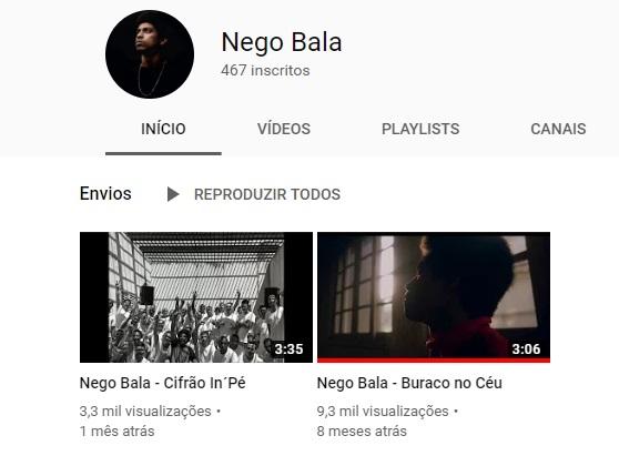 Nego Bala - Youtube - 2019