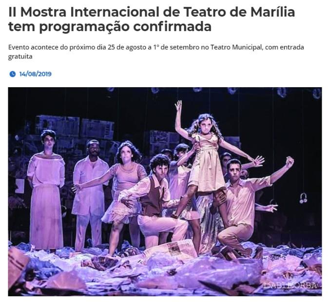 teatro de marília