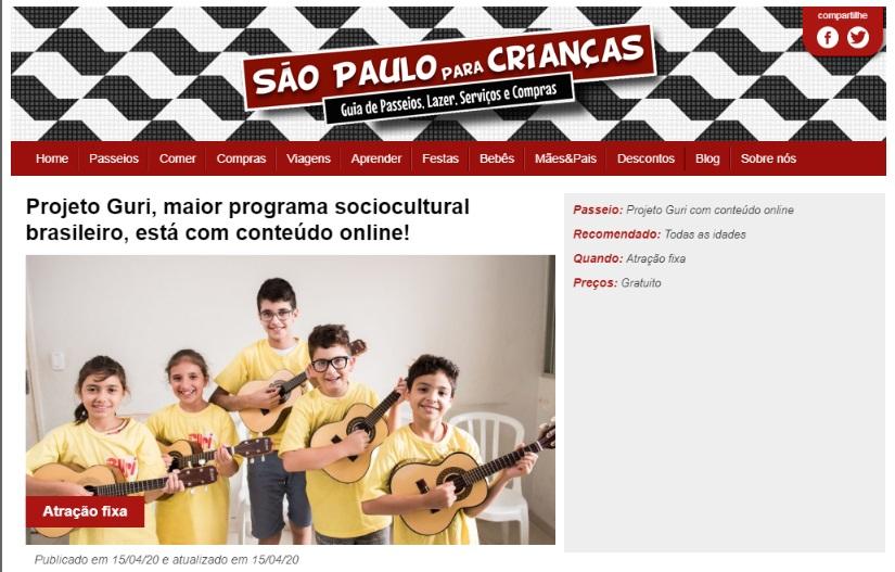 São Paulo para crianças
