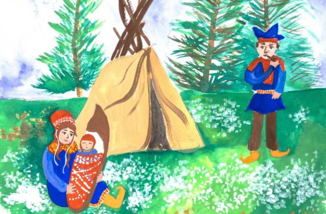 Laura vai à Noruega - ilustração