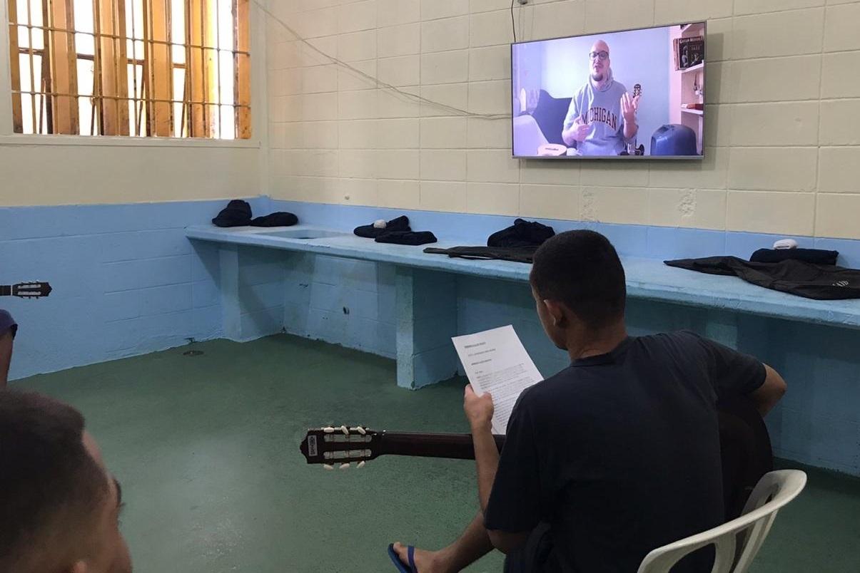 Fundação CASA, em Campinas, aluno de violão