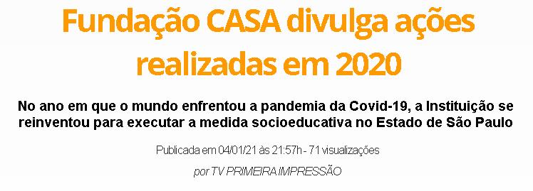 Fundação CASA divulga