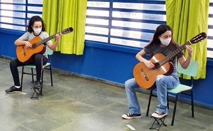 aula de música no Polo Ibirá